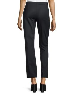 CoSTUME NATIONAL Mid Rise Flare Leg Trousers, Black