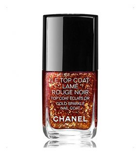 CHANEL   LE TOP COAT Lamé Rouge Noir