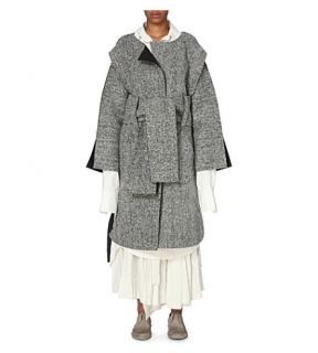 DANIEL GREGORY NATALE   Oversized tweed trench coat