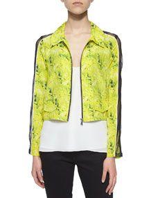 Andrew Marc Miami Camo Print Jacket