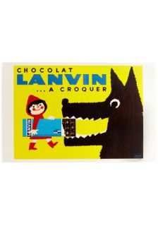 Wall Ad itude in Lanvin Chocolat  Mod Retro Vintage Wall Decor