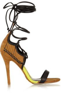 Suede, leather and jersey sandals  Daniele Michetti