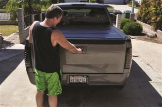 BAK Industries   BAKFlip Fibermax Hard Folding Tonneau Cover   Fits 68.4 in./5 ft. 8.4 in. Bed and also With Cargo Channel System