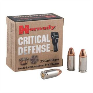 Critical Defense 9mm Luger 115gr FTX 25/Box  : CRITICAL DEFENSE AMMUNITION