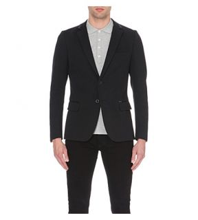 DIESEL   J Daniel ribbed collar cotton piqué jacket