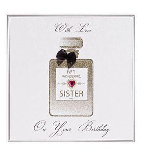 FIVE DOLLAR SHAKE   No.1 Wonderful Sister perfume bottle birthday card