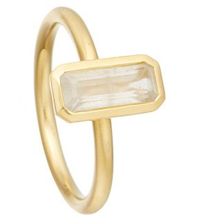 ASTLEY CLARKE   18ct gold vermeil moonstone ring