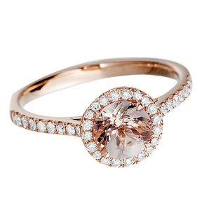 ASTLEY CLARKE   14ct rose gold morganite ring