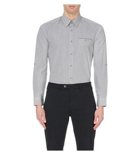 TED BAKER   Twosoft micro checked cotton shirt