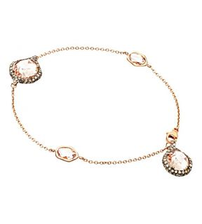 ASTLEY CLARKE   Grey diamond morganite bracelet