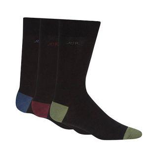 RJR.John Rocha Pack of three designer black coloured heel and toe socks