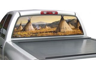 "Window Canvas WC317004 2   Lakota Village SUV (30"" x 65"") Native American Window Graphics   Window Graphics"
