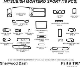 2000 2006 Mitsubishi Montero Sport Wood Dash Kits   Sherwood Innovations 1107 N50   Sherwood Innovations Dash Kits