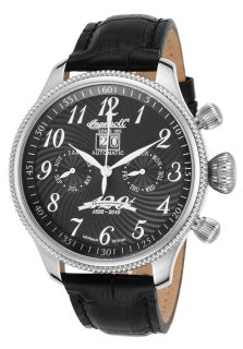 Men's Ltd Ed Independence Auto Multi Function Black Leather and Dial