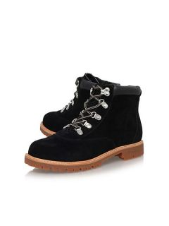 Miss KG Soda flat lace up ankle boots Black