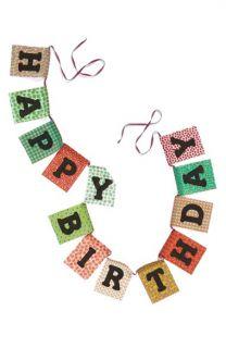 Natural Life Happy Birthday Garland