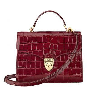 ASPINAL OF LONDON   Mayfair mock croc leather bag