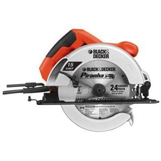Black & Decker Circular Saw, Rubber Grip Handle, 0 45 Degree Cuts,  7 1/4 In.: Model# CS1015