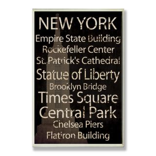 Stupell Industries New York City Typography Wall Plaque