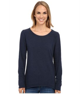 Dylan by True Grit Sueded Knit Solid Long Sleeve Rock Tee