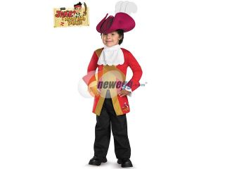 Disguise DI44964 Captain Hook Classic Jake And The Neverland Pirates Costume Size Medium