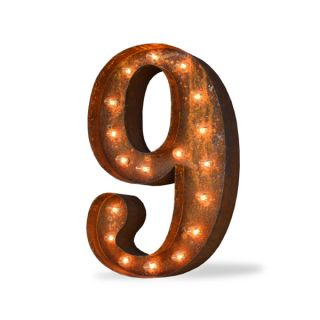 Number Nine Rust finish Iconic Marquee Sign   16871677