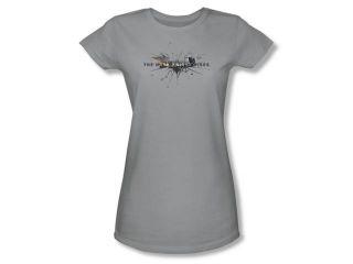 The Dark Knight Rises Rise Logo Juniors Short Sleeve Shirt