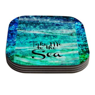 Take Me to the Sea by Ebi Emporium Coaster by KESS InHouse