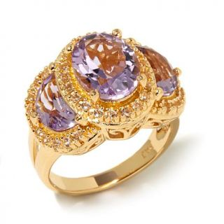 Technibond® Gemstone and White Topaz 3 Stone Ring   8043923