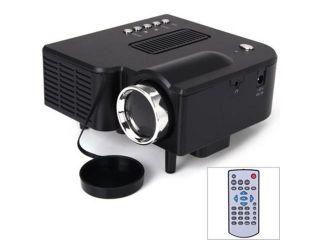 UC28+ 400 Lumens Home Mini LED Projector 320 x 240 Native Resolution 16:9 Aspect Ratio Supports HDMI/USB/VGA/IR/SD Card   US Plug