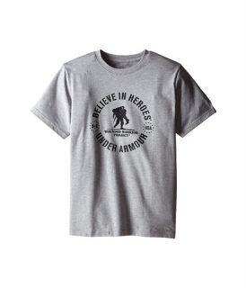 Under Armour Kids Wounded Warriors Project Believe In Heroes Short Sleeve Tee Big Kids True Grey Black, Black, Under
