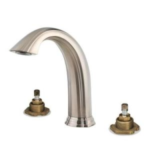 Pfister Santiago 2 Handle High Arc Deck Mount Roman Tub Faucet Trim Kit in Brushed Nickel (Valve Not Included) RT6 5STK