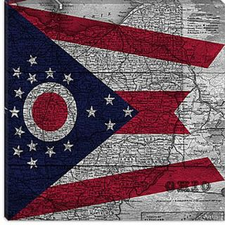 iCanvas Flags Ohio Graphic Art on Canvas; 26 H x 26 W x 1.5 D