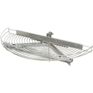 Knape & Vogt 3.25 in. x 24.81 in. x 11.5 in. Glide Half Moon Frosted Nickel Wire Lazy Susan HM25G FN