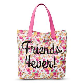 Girls Floral Friends 4ever/Boys Whatever Tote