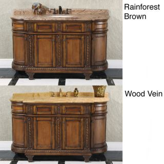 60 inch Single Sink Vintage Style Natural Stone Top Bathroom Vanity