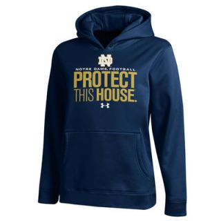 Notre Dame Fighting Irish Under Armour Youth Fleece Pullover Hoodie – Navy Blue