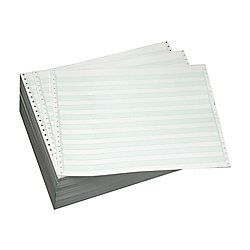Brand Computer Paper 1 Part 20 Lb 14 78 x 11  Non Perforated Bond 12 Green Bar Box Of 500 Sheets
