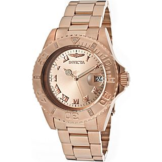 Invicta Watches Mens Pro Diver Gold Plated Steel Watch