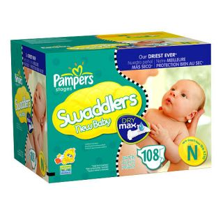 Pampers Dry Max 108 Ct Swaddler Diaper Value Box   Newborn    Procter & Gamble