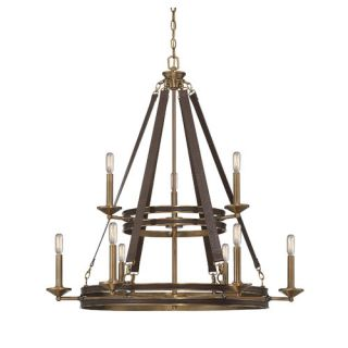 Harrington 9 Light Candle Chandelier by Savoy House