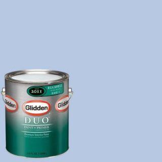 Glidden DUO 1 gal. #GLB22 01E Spring Bluebell Eggshell Interior Paint with Primer GLB22 01E