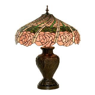 Rose Swirl 24 H Table Lamp with Bowl Shade by Meyda Tiffany