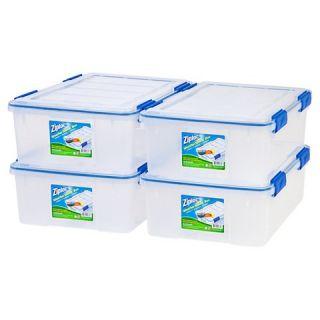 WeatherShield Storage Box   26.5 Qt, 4 Pack