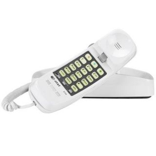 AT&T 210 Trimline Phone with Memory Dialing, White 210 WH