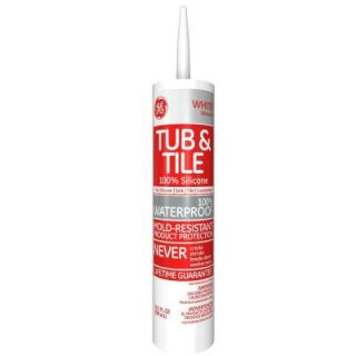 GE Tub and Tile Silicone I 10.1 oz. White Kitchen and Bath Caulk HD712 24C