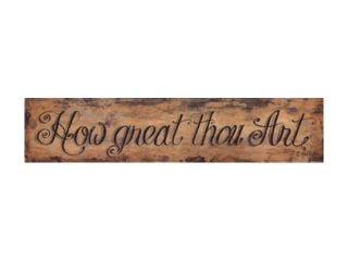 How Great Thou Art Poster Print by Gail Eads (18 x 4)