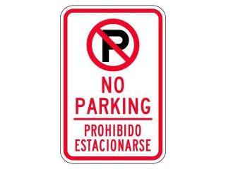 """No Parking Sign, Brady, 141819, 18""""Hx12""""W"""