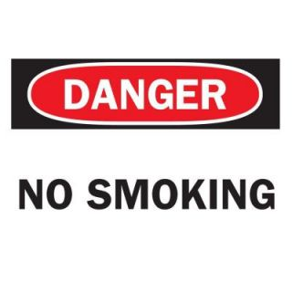 Brady 7 in. x 10 in. Fiberglass No Smoking Sign 47171