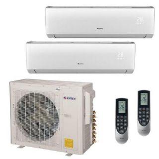 GREE Multi 21 Zone 30,000 BTU 2.5 Ton Ductless Mini Split Air Conditioner with Heat, Inverter, Remote   230 Volt/60Hz MULTI30HP204